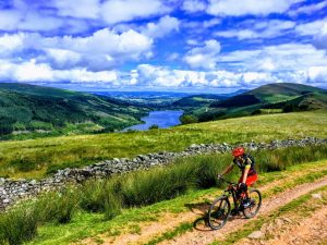 The Gap MTB Ride Brecon Beacons Talybont Reservoir Climb