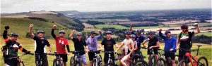 south downs mountain biking hen party stag do guided group rides