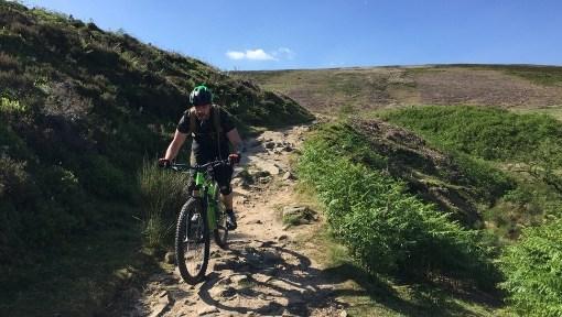Peak District Mountain Biking Ladybower Hope Valley Edale Jacobs ladder guided rides