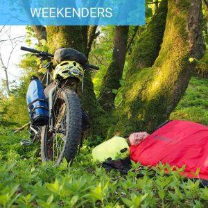 Bikepacking weekend Intro wild camping guided rides south downs bothy biking bivvy biking