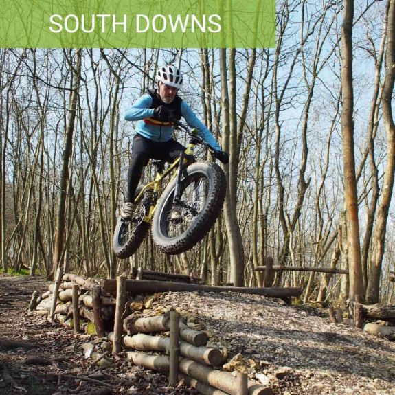 Guided South Downs Mountain Biking Stanmer Park Brighton