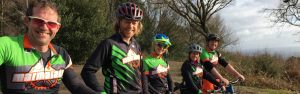 Guided mountain biking skills coaching