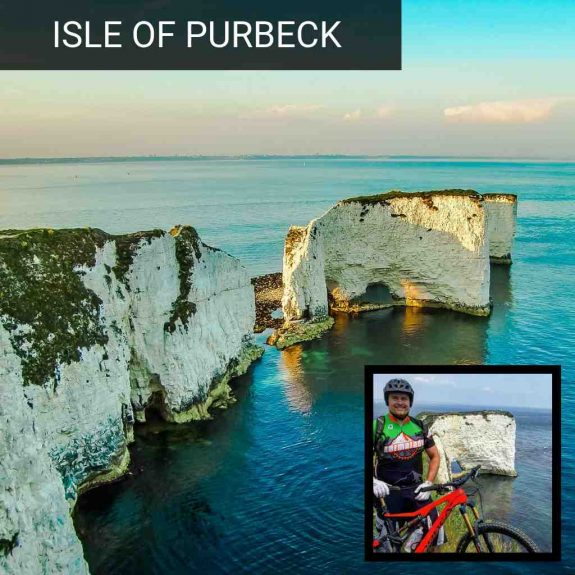 Isle of purbeck mountain biking old harry rocks corfe castle